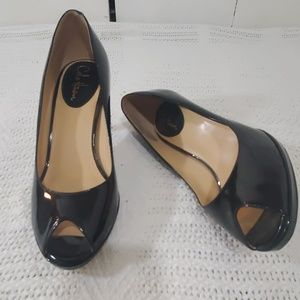 COLE HAAN Nike Air Black Patent Leather Heels Sz 9